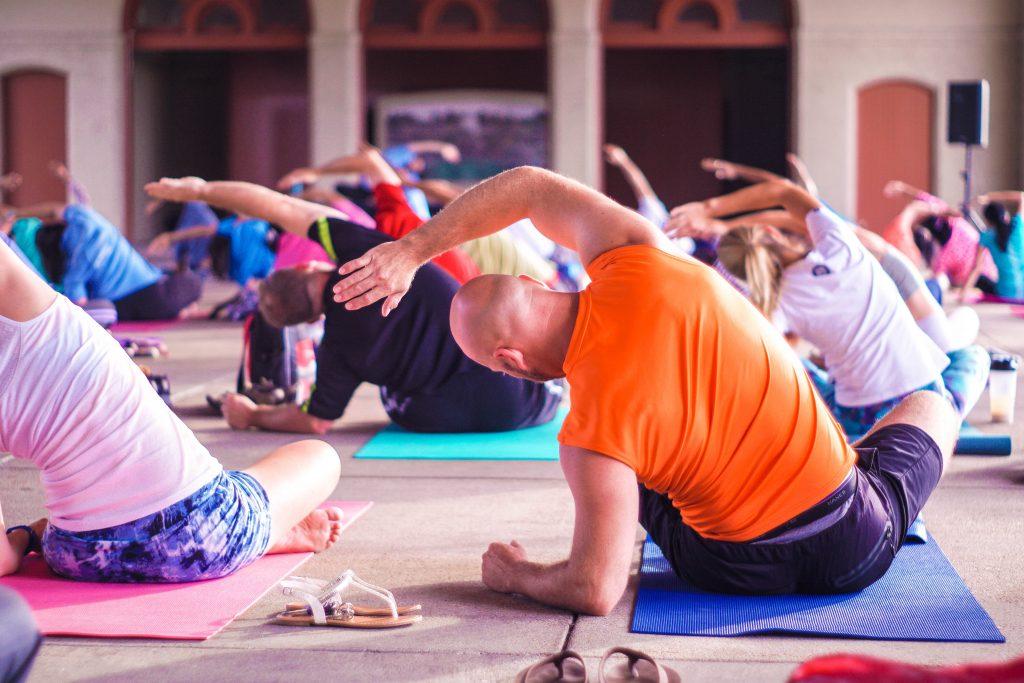 yoga teacher at home